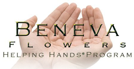 beneva flowers helping hands logo showing two hands side by side to indicate giving