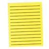 "3/4"" Thick Lined Yellow Paper"