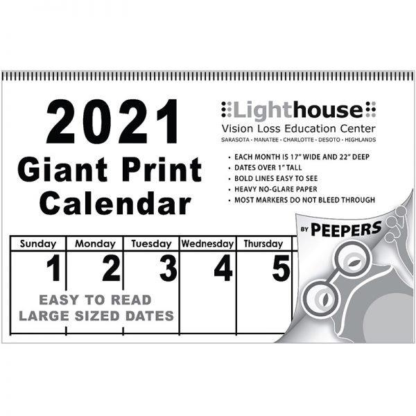 2021 Peepers Giant Print Calendar