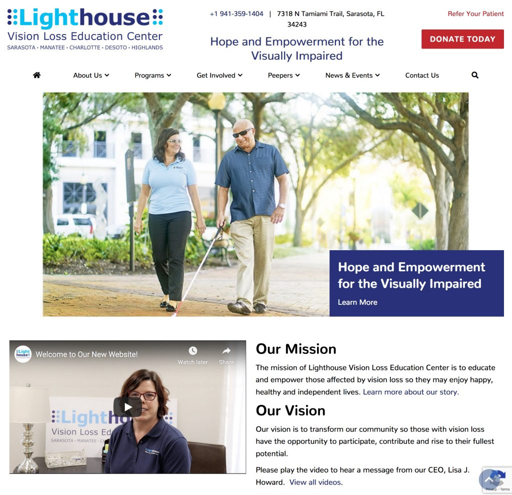 Lighthouse home page