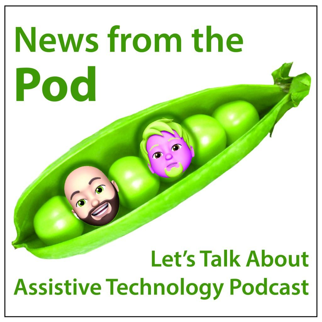 Podcast illustration with avatars of Elliott and Randy in a pea pod