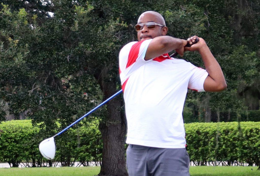 Michael's golf swing
