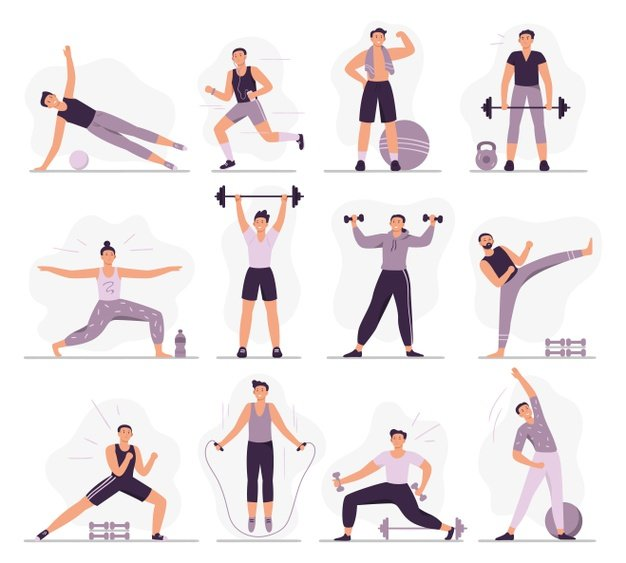 Pictures of people working out