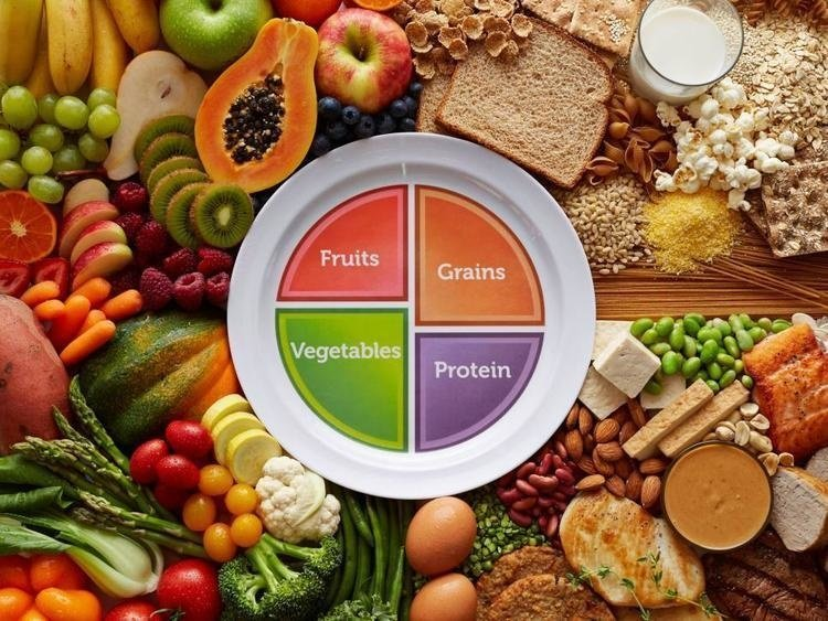 images of fruits veggie grains and protein