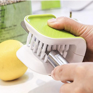 Green and white Blade Brush Knife Cleaner