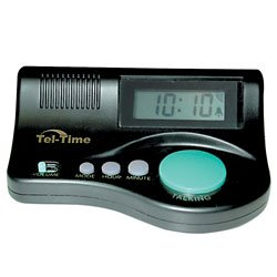 talking clock shaped in a curve